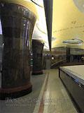 """Станция метро """"Маяковская"""". Новый подземный вестибюль станции. Купола и свод вестибюля - подсветка на кронштейнах."""