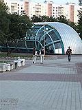 """Станция метро """"Славянский бульвар"""" восточный вестибюль, выход в город и вход пассажиров в подземный вестибюль"""
