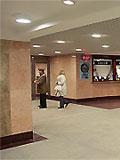"""Станция метро """"Митино"""" Северный вестибюль. Для удобства пассажиров билетные кассы вынесены из вестибюля станции в подземный переход."""