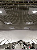 "Станция метро ""Митино"". Балкон северного вестибюля. Панорама станционного зала"