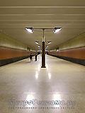 """Станция метро """"Волжская"""". Станционный зал. Строгий стиль, идеальная перспектива прямоугольных форм."""