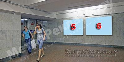 """Северный вестибюль станции  """"Марьино"""". Подземный вестибюль, несветовые щиты ?5, 6 по выходу пассажиров в город"""