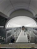 """Станция метро """"Достоевская"""". Станционный зал."""